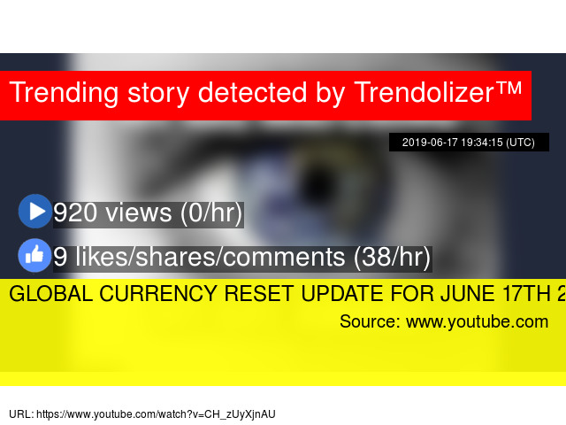GLOBAL CURRENCY RESET UPDATE FOR JUNE 17TH 2Q19