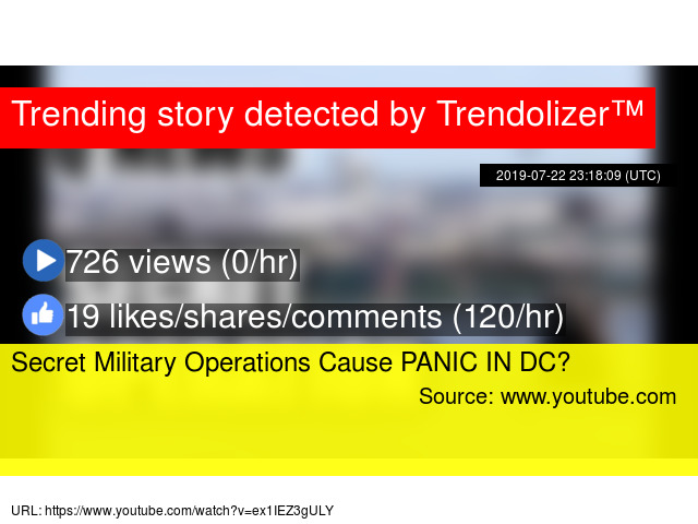 Secret Military Operations Cause PANIC IN DC?