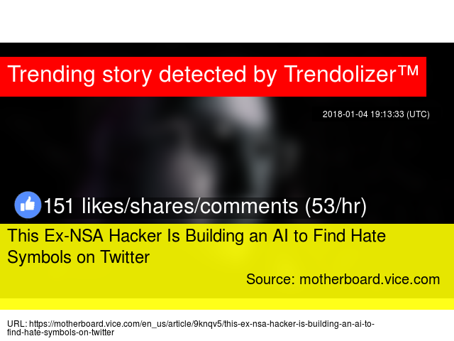 This Ex Nsa Hacker Is Building An Ai To Find Hate Symbols On Twitter